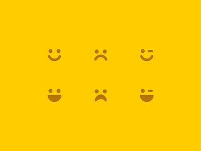 Emoticons emoticons happy sad wink faces ui icon font icon interface emote