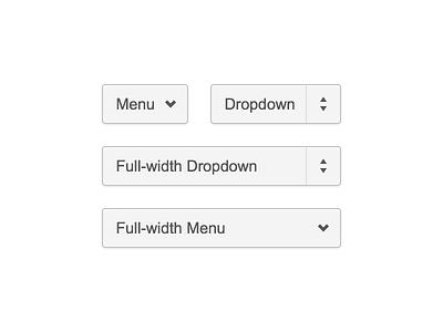 Dropdown Selectors and Menus ui interface dropdown menus ux drop down selector