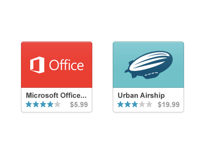 App Tiles ui ux interace apps app store icons rating price