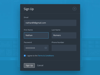 Sign Up Modal signup modal