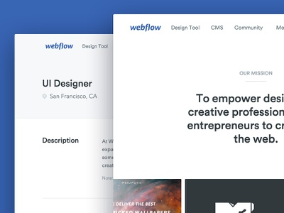 About & Jobs webflow jobs about marketing