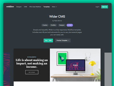 Webflow Template Marketplace marketplace design templates webflow