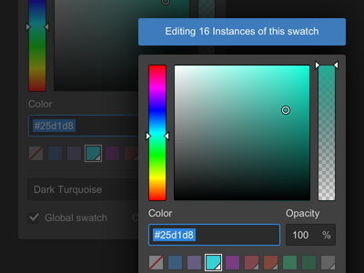 Global Swatches variables ui swatches webflow color picker