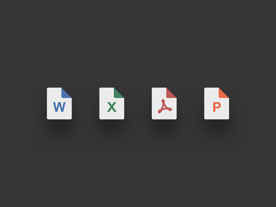 File Icons webflow document powerpoint excel pdf word icons file