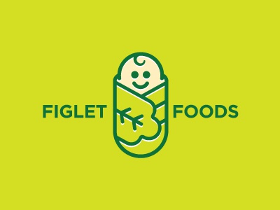Figlet Logo baby babies food fig leaf leaves