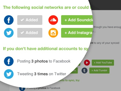 Sync Additional Accounts email design ui icon social
