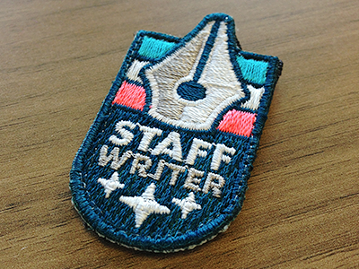 Badge No. 1 - Stitched badge icon illustration patch