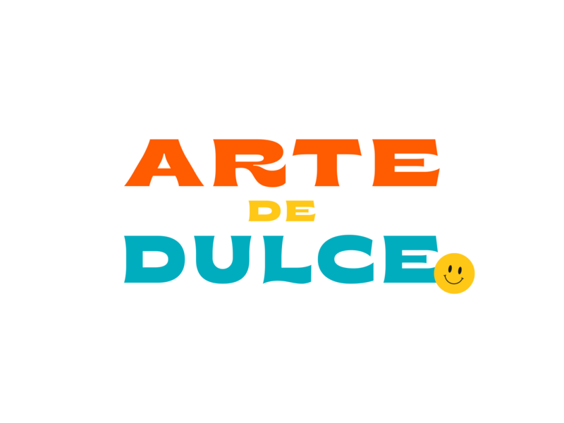 Arte de Dulce smiley typographic typogaphy logo