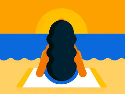 Woman at the beach tanning sun girl woman beach