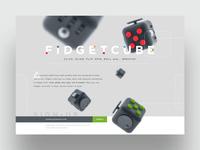 FidgetCube Landing Page