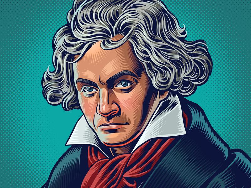 Beethoven Portrait beethoven portrait drawing zucca mario illustration
