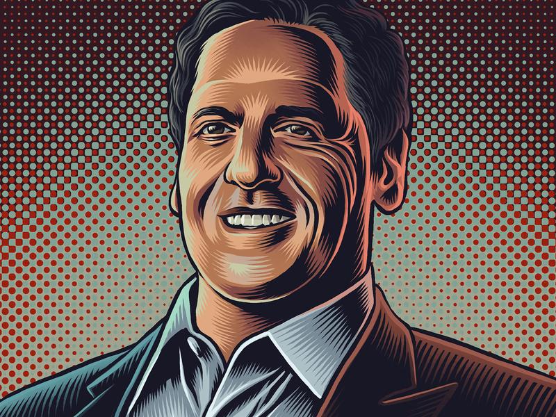 Mark Cuban Portrait dallas mavericks the ringer shark tank mark cuban editorial portrait drawing zucca mario illustration