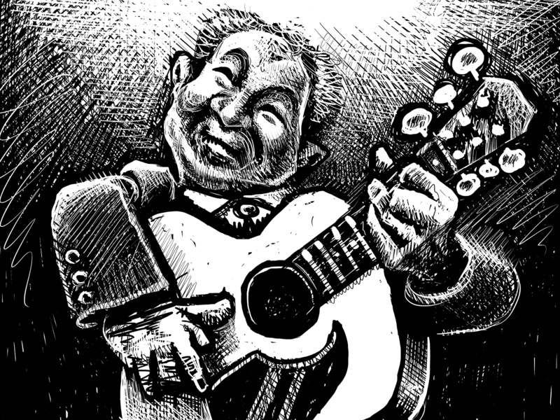 Portrait of John Prine country folk music art musicians musician music john prine portrait drawing zucca mario illustration