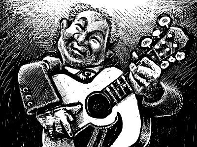 Portrait of John Prine country folk music art musicians musician music john prine portrait drawing zucca mario illustration