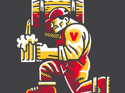Victory Kegman Reimagined craft beer logo design brewing company victory branding design branding portrait drawing zucca mario illustration