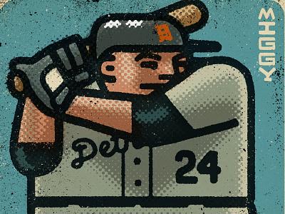 Miguel Cabrera Portrait athletes miguel cabrera tigers detroit mlb baseball athlete sports portrait drawing zucca mario illustration