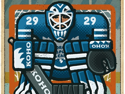Felix Potvin Portrait maple leafs toronto felix potvin goalie hockey nhl portrait drawing zucca mario illustration
