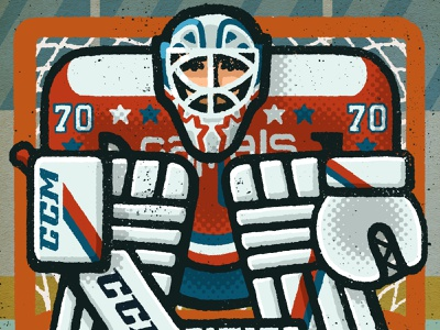 Braden Holtby Portrait athlete sports braden holtby washington dc washington capitals capitals washington goalie hockey nhl portrait drawing zucca mario illustration