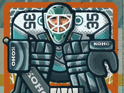 Jean-Sebastien Giguere Portrait nhl anaheim mighty ducks giguere jean-sebastien giguere goalie hockey portrait drawing zucca mario illustration