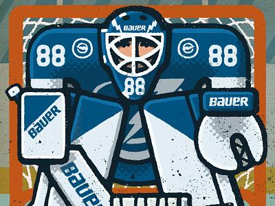 Andrei Vasilevskiy Portrait stanley cup lightning tampa bay tampa andrei vasilevskiy vasilevskiy goalie hockey nhl portrait drawing zucca mario illustration