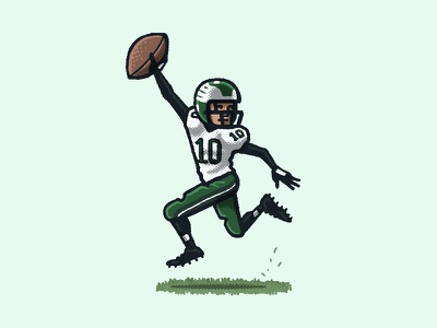 Miracle at the Meadowlands II athlete sports miracle at the meadowlands desean jackson eagles philly philadelphia football nfl portrait drawing zucca mario illustration