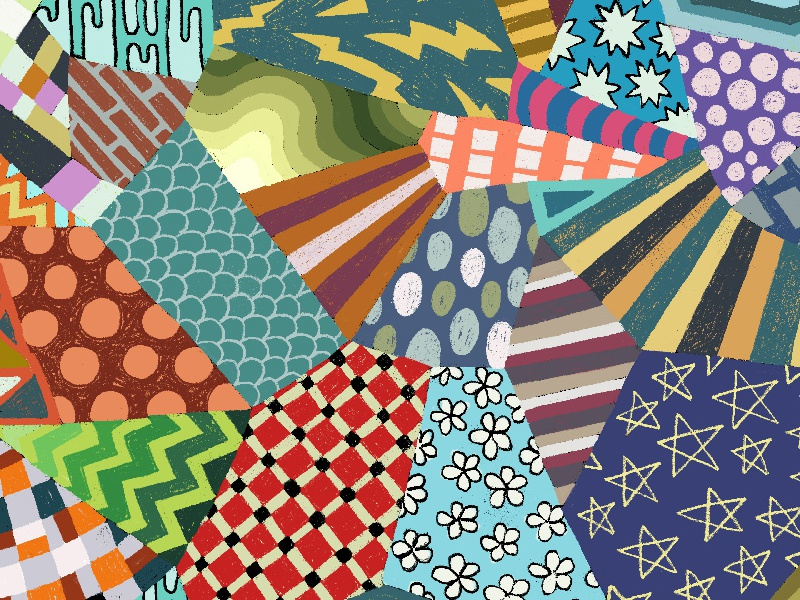 Pattern Explosion 2 checks stripes abstract patterns repeating repeat pattern illustration zucca mario