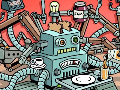 We Are Living in a Robot Moment humor funny fun robotics robots grantland editorial illustration zucca mario