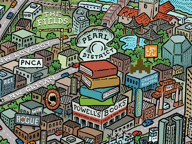 Portland Map Pearl District By Mario Zucca  Dribbble