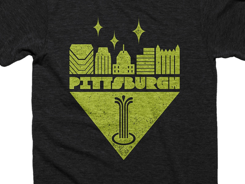 Retro Pittsburgh Shirt city of champions point state park golden triangle cotton bureau shirt yinzer pittsburgh