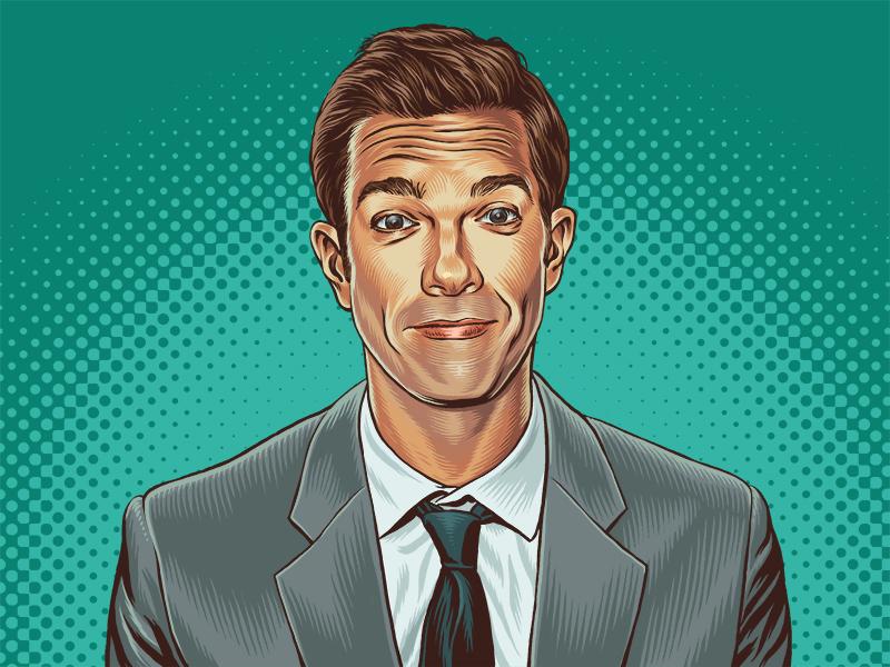 John Mulaney Portrait comedy standup editorial the ringer ringer john mulaney portrait illustration
