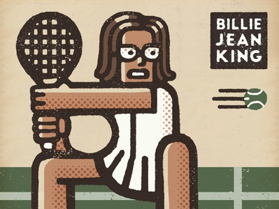 Billie Jean King Portrait
