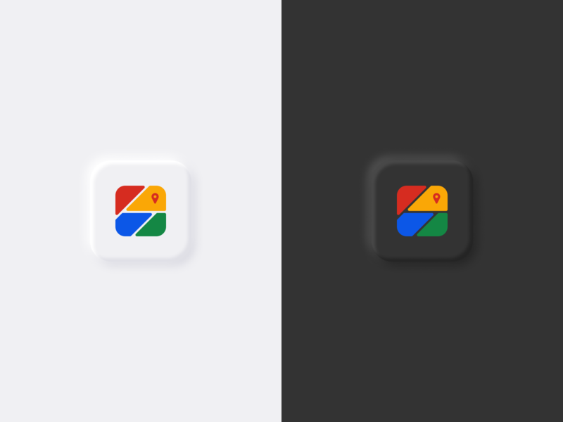 Google Maps  - App Icon Redesign lightmode dark mode app icon design app icon redesign concept redesign map icon logo google maps google clean minimal design branding app