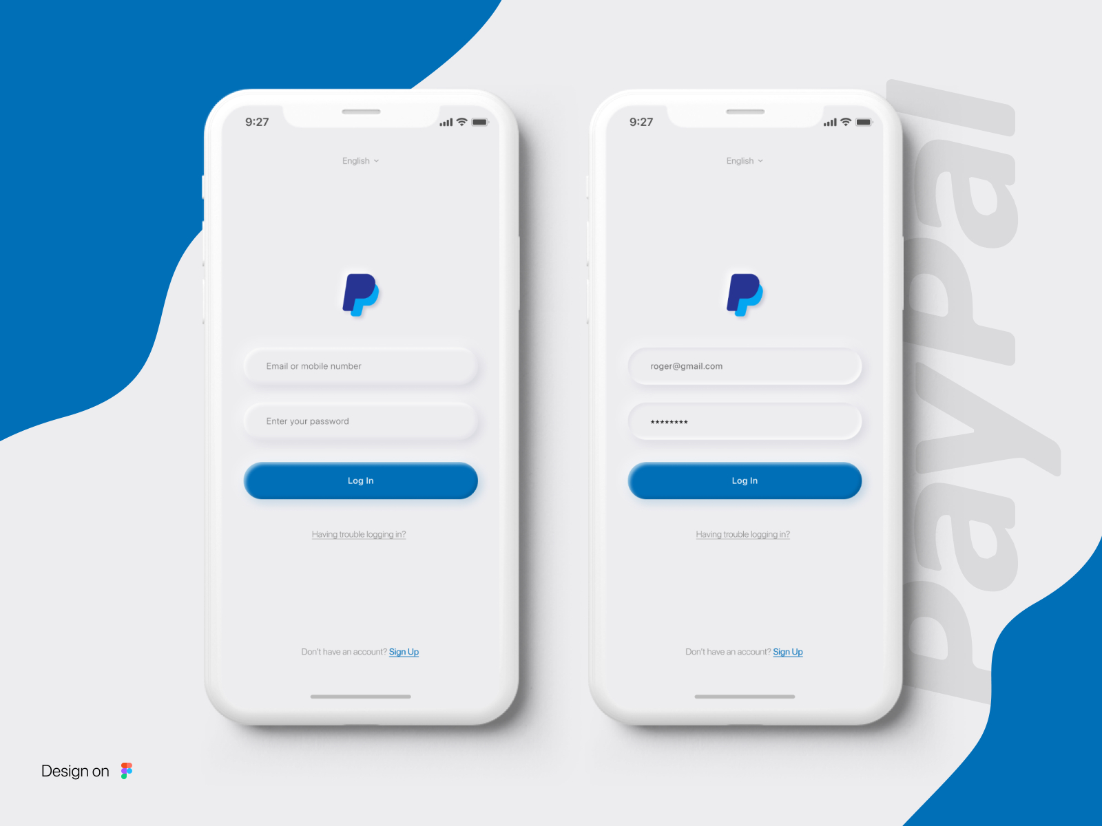 Paypal Login Redesign By Afif Bazit On Dribbble