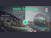 Hello Tomorrow Conference icon vector social media identity illustration