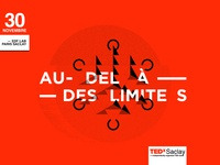 TedxSaclay logotype design icon social media identity illustration branding tedx