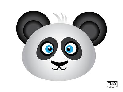 Panda Face Illustration illustration face panda