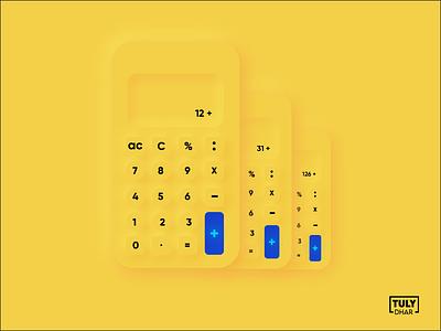 Neomorphism Calculator adobe illustrator design tuly dhar illustrations calculator neomorphism