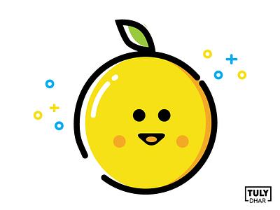 Smiley Fresh Lemon design adobe illustrator tuly dhar illustration lemon fresh smiley
