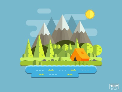 Mountain Landscape landscape mountain vector branding design adobe illustrator illustration tuly dhar