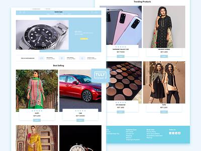 Kothin Sale web UI(Concept) ui tuly dhar adobe xd web landing page concept e-commerce kothin sale