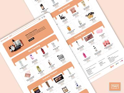 DermStock skin care ui uiux beauty ui design adobexd concept ui tuly dhar web ui landing page ui