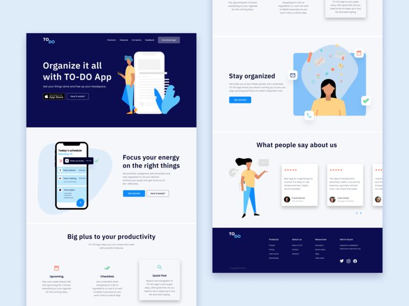 To-do app webdesign website ux ui web illustration design app