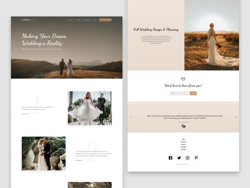 Wedding Planner wedding photography website ux ui webdesign design