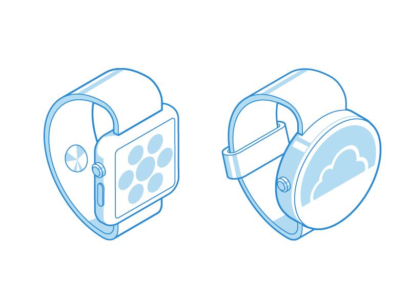 It goes one o'clock, two o'clock, three o'clock, Roc shape stroke apple wearable glyphs 3d smartwatch clock watch icon