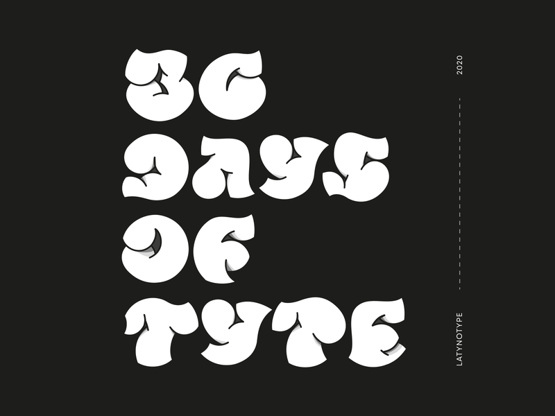 Letters for 36 days of type marathon design vector typography