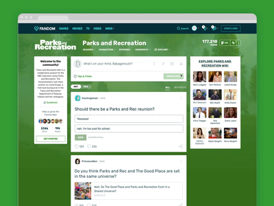 Feeds Contribution Experience Dribbble desktop feeds community text link image poll contribution new post parks and recreation parks and rec wikia fandom