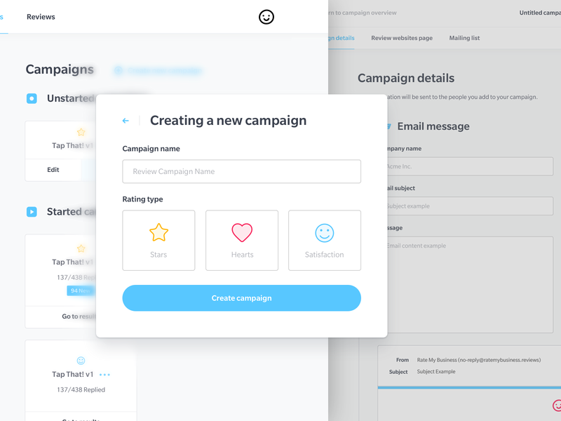 Campaign Interface