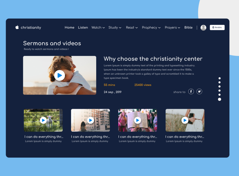 sermons and videos designs sermon video designer design art christianity christian design christian website design webdesign ui uiux figma design