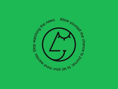 Stop watching the news type flat design typography icon vector minimal illustrator graphicdesign logotype logo