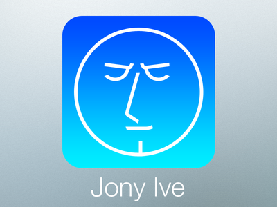 Ive redesigns himself ios7 jonyive myeyes horror redesign ive